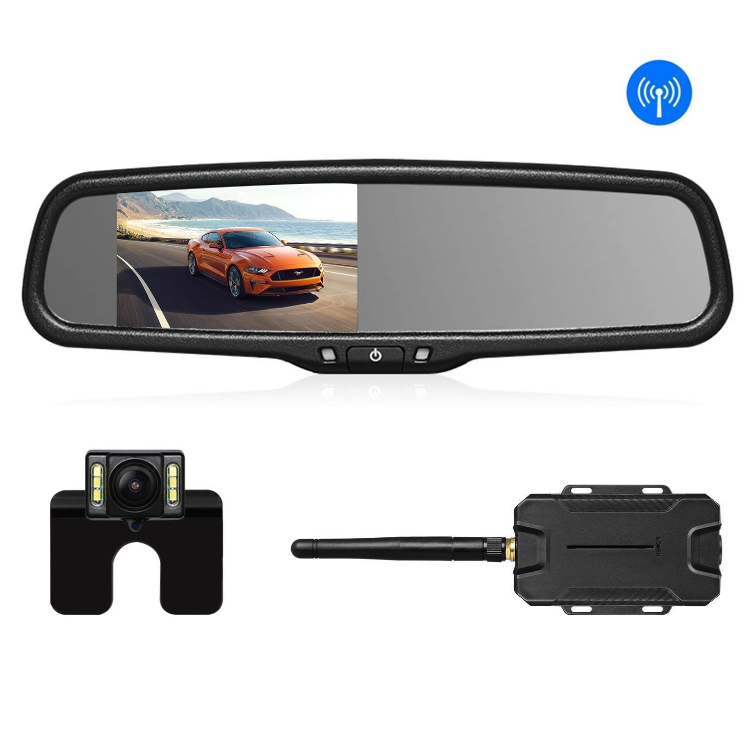 AUTO VOX Wireless Reverse Camera Kit Car Backup Camera with Rear View  Mirror Monitor